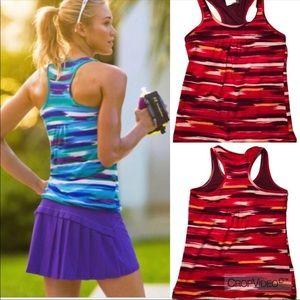 Athleta Airbrush printed tinker athletic tank top